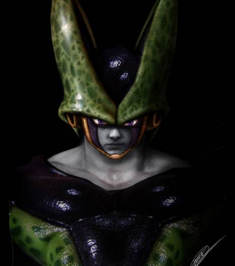 Un personnage de Dragon Ball Z en illustration hyperr�aliste